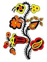 Flower oj, yellow red