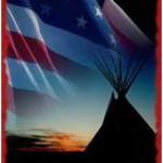 flag teepee