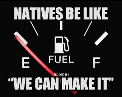 Empty Gas - fuel gauge